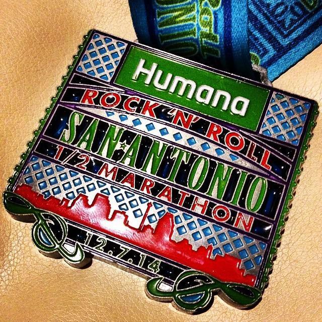 rock roll half marathon medal